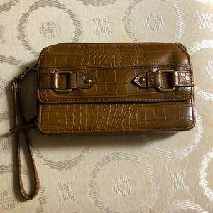 Womens Bueno Croc embossed 3-in-1 Wristlet/wallet